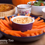 Roast pumpkin, sour cream and garlic dip (recipe)