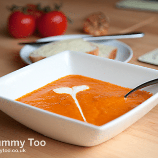 Roasted tomato and garlic soup (recipe)