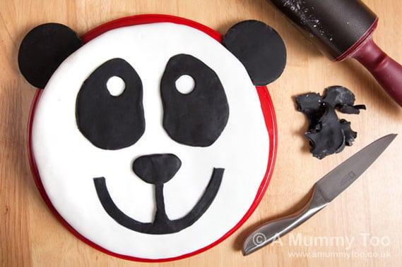 How To Make A Panda Cake With Printable Template A
