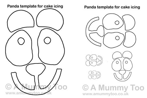 Free printable template to go with my panda cake recipe