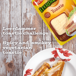 Spicy, smokey vegetarian toastie. A recipe for the Leerdammer toastie challenge