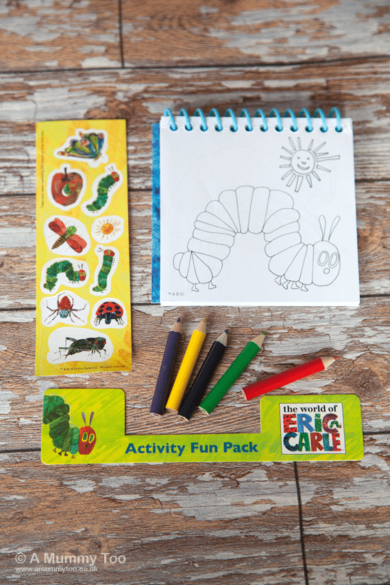 Colouring and crafting with The Very Hungry Caterpillar (product reviews)