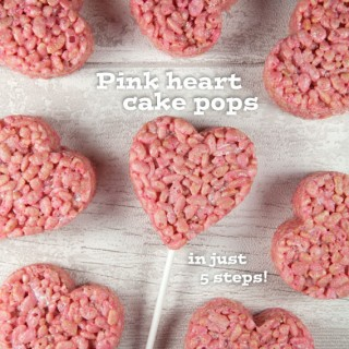 Super cute pink heart crispy cake pops (recipe)