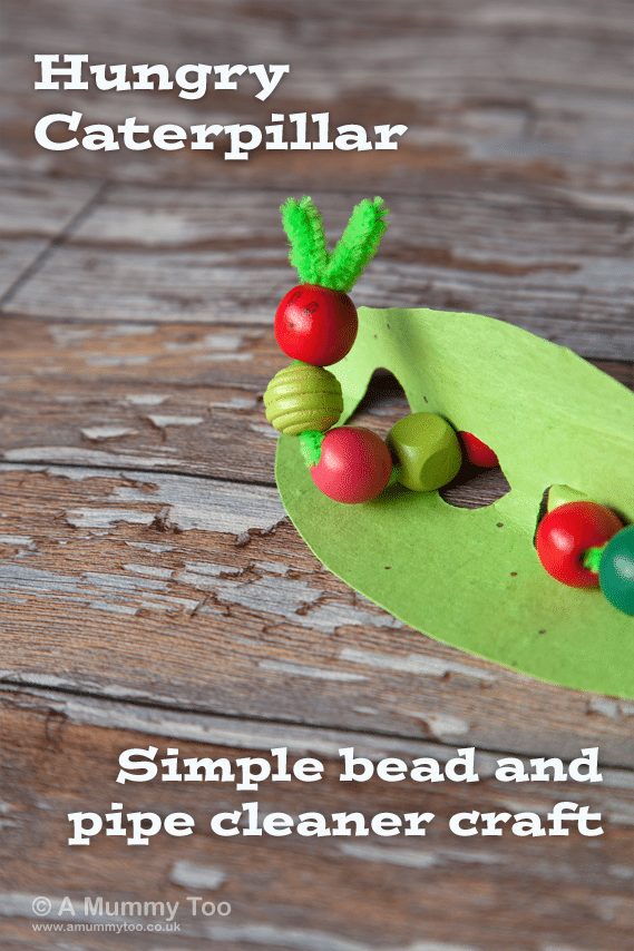 Hungry Caterpillar - simple bead and pipe cleaner craft for kids