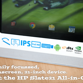 A family focussed, touchscreen, 21-inch device. Meet the HP Slate21 All-in-One (review)