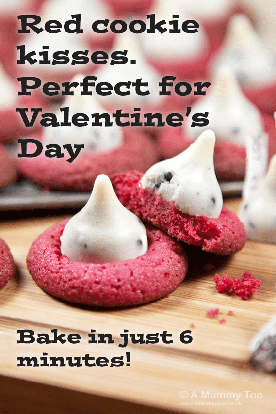 Red cookie kisses. An ADORABLE Valentine's cookie recipe