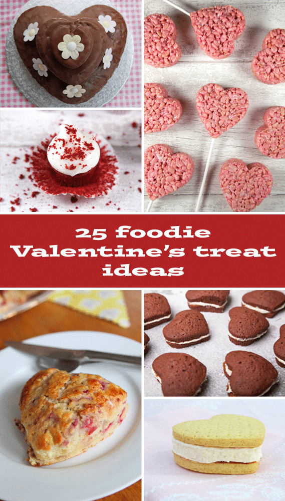 25 Valentine's Day Recipes featuring cookies, cupcakes, cake pops and more!