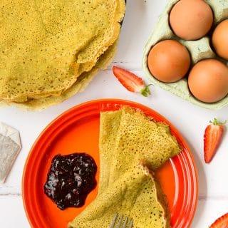 Gluten-free matcha tea pancakes