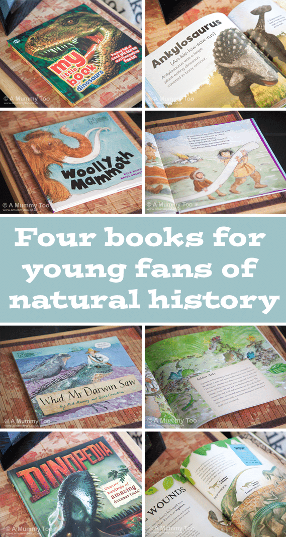 Do your kids love dinosaurs? Are they fascinated by palaeontology and brimming with facts about the prehistoric world? Here's a round up of four great books for young fans of natural history!