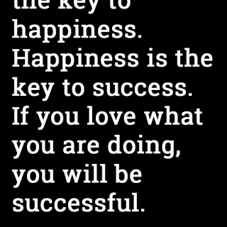 Success is not the key to happiness (weekend inspiration)