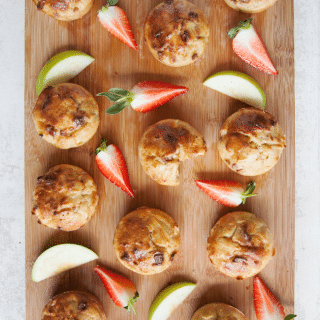 No junk apple and strawberry muffins (kid's recipe)