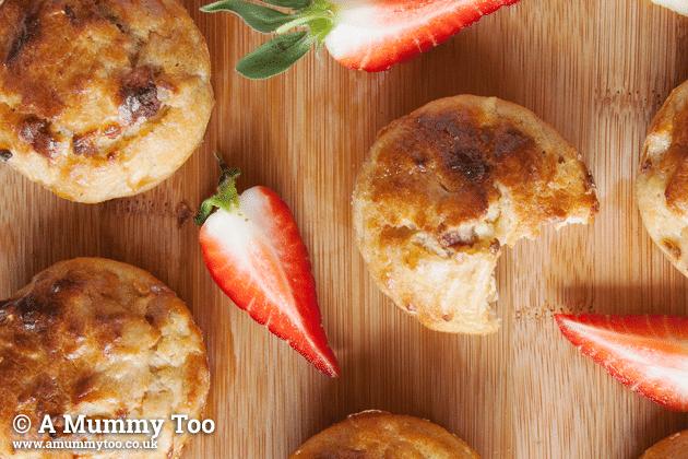 No Junk apple, cinnamon and strawberry muffins