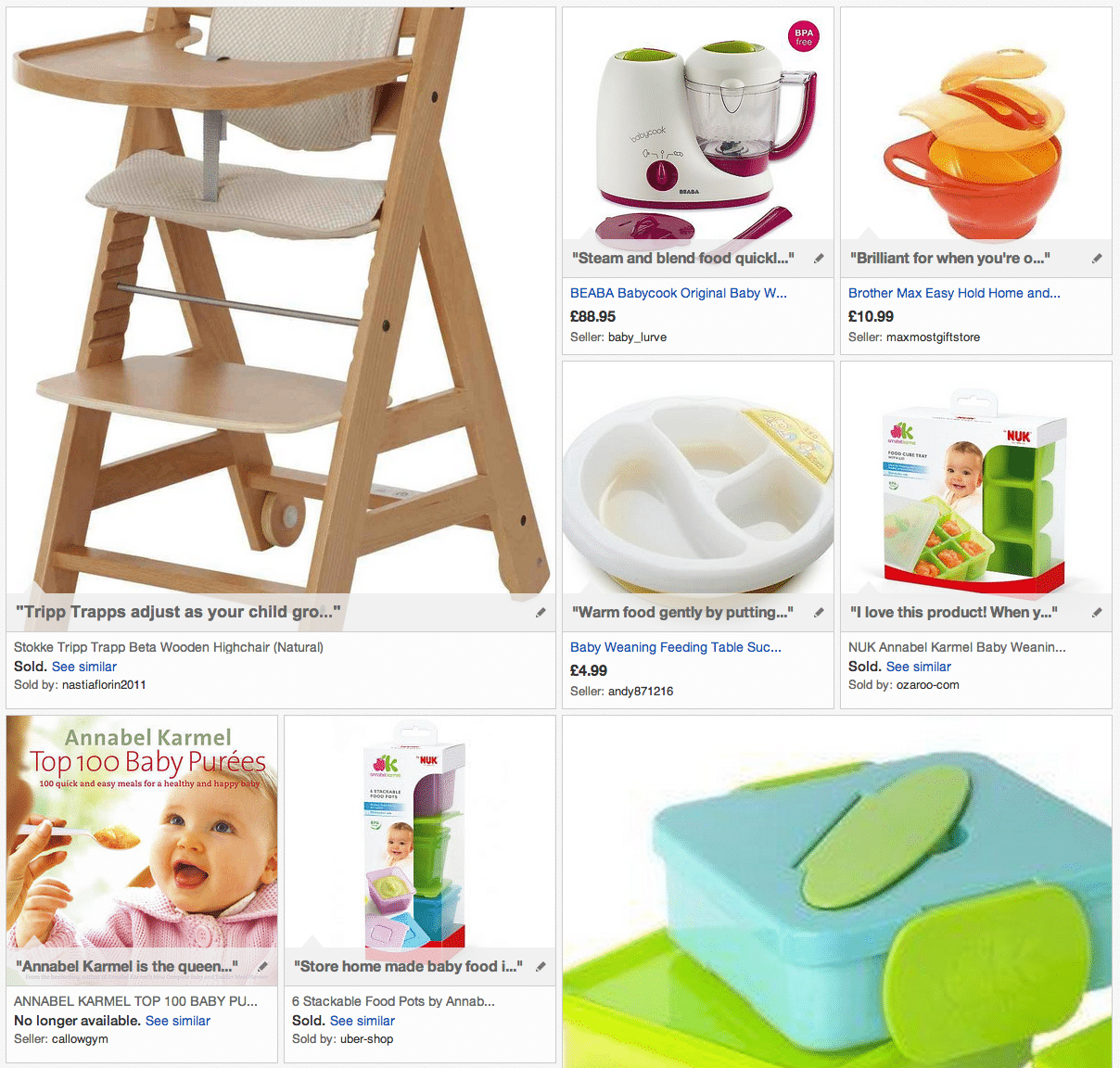 Easy weaning for baby