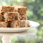 Reduced sugar apricot and almond breakfast oat bars