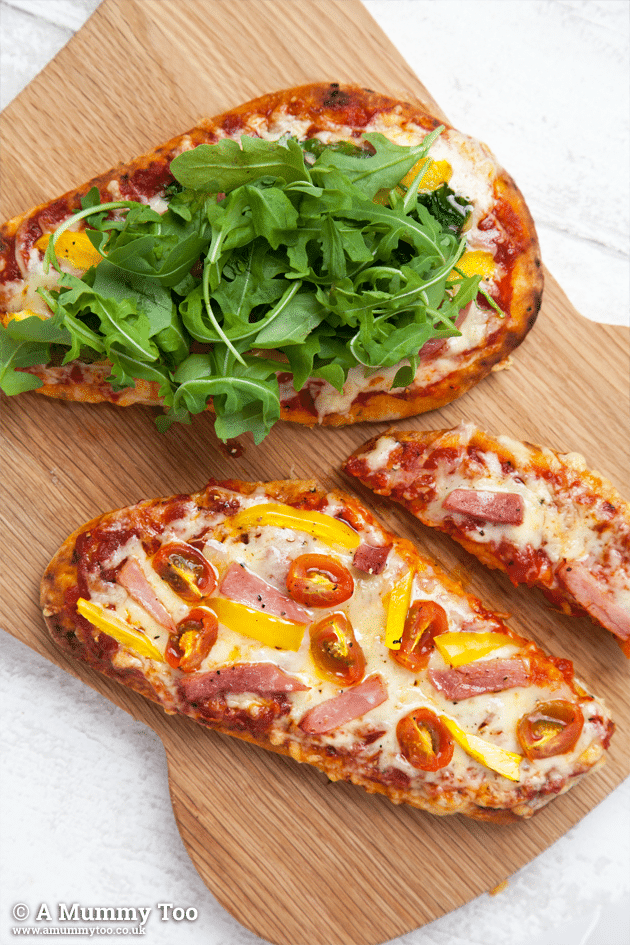 PERFECT FOR A QUICK DINNER! Naan bread pizzas