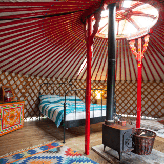 Four go mad in Somerset (or, everything you wanted to know about staying in a yurt but were afraid to ask)