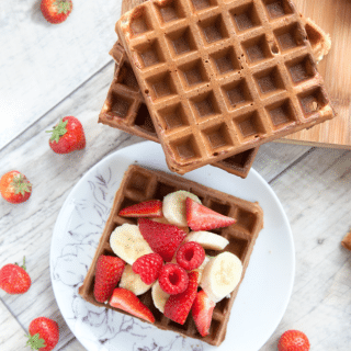 Wholemeal fruity waffles (perfect for kids)