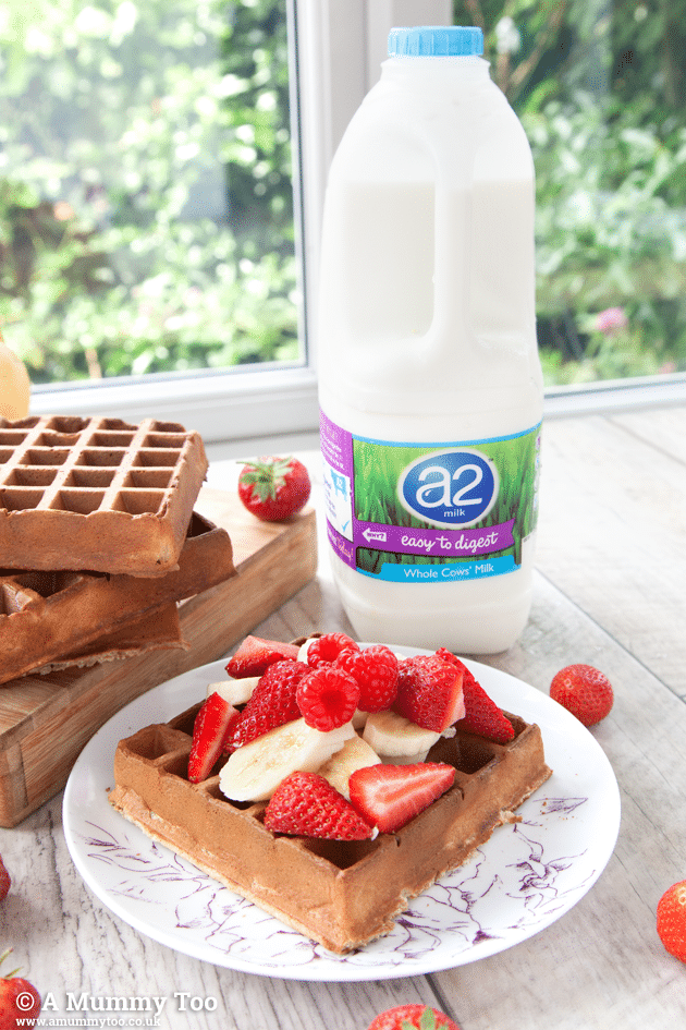 Wholemeal fruity waffles (perfect for kids intolerant to A1 milk protein)