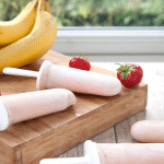 Strawberry and Banana Smoothie Lollies (no added sugar or other nasties)