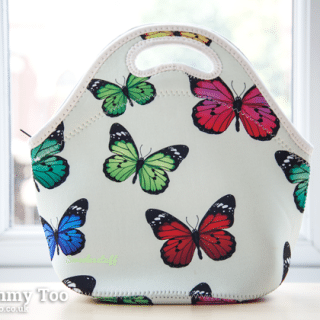 Sweeleestuff Butterfly Print Neoprene Lunch Tote (review)