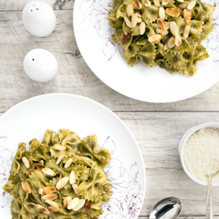 Aphrodisiac eating: basil & almond chilli pesto pasta