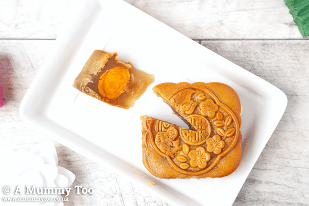 Traditional mooncake, ready to serve