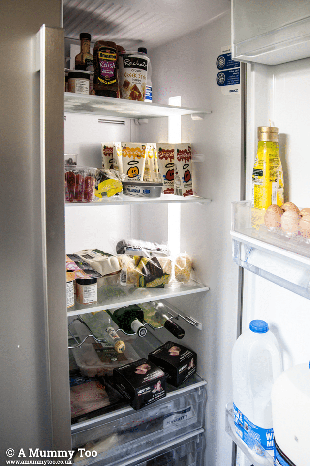 Inside the Beko fridge freezer