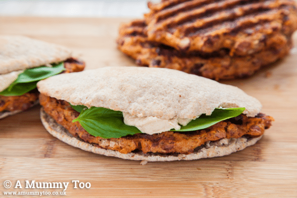 chilli-parmesan-and-sundried-tomato-veggie-patties-in-a-pitta