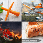 Disney Planes 2 inspired lunch snacks Pt 1: Dusty Crophopper and Blade Ranger