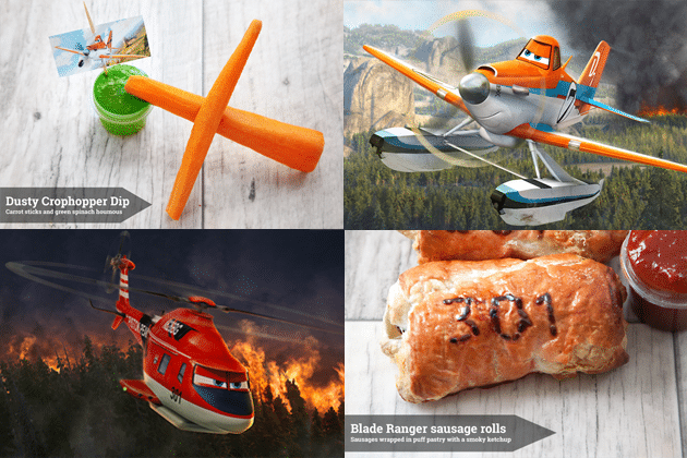 Disney Planes inspired snacks