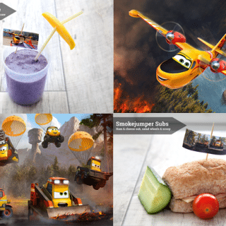 Disney Planes 2 inspired lunch snacks Pt 2: Lil Dipper and The Smokejumpers