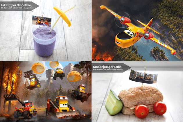 Disney Planes 2 inspired lunch snacks - these Disney Planes snacks are fun to make!