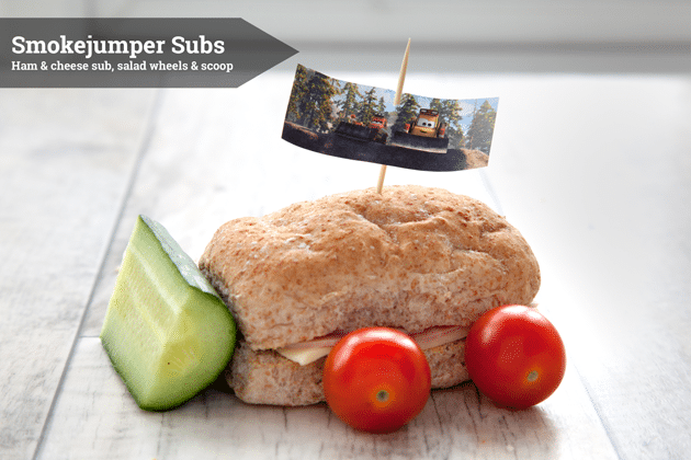 Disney Planes 2 Smokejumper Subs - a fun lunchtime snack inspired by the movie