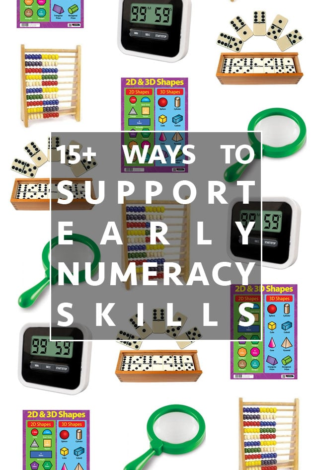 15+ ways to support foundation/KS1 numeracy skills at home
