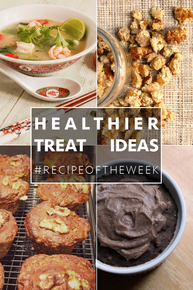 Four healthier treat ideas! Dishes that will make you feel like you're having a treat, but are actually pretty healthy.