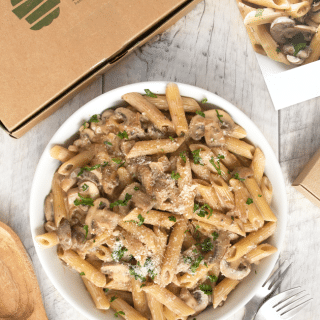 Wild mushroom penne with Simply Cook