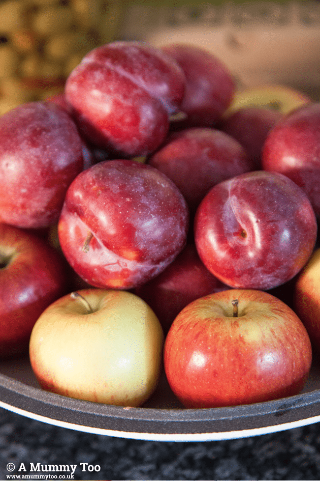 This recipe features lots of fresh apples and plums