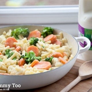 One pot, low fat, veg-packed creamy macaroni