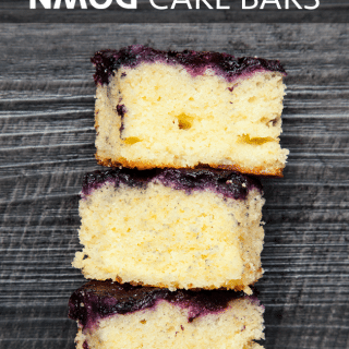 Upside down blueberry cake bars