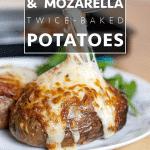Corned beef & mozzarella twice-baked potatoes (recipe)