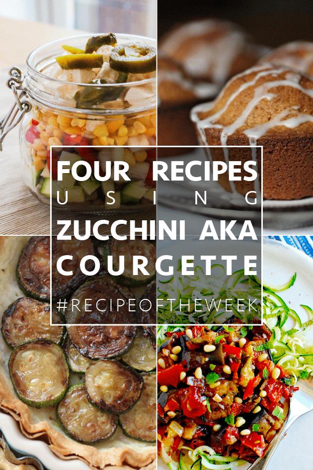 Versatile zucchini four ways