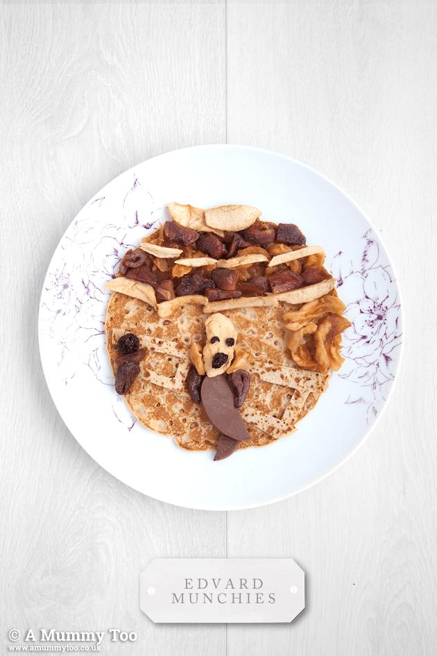 This pancake art was so fun to make! Here's Edvard Munchies