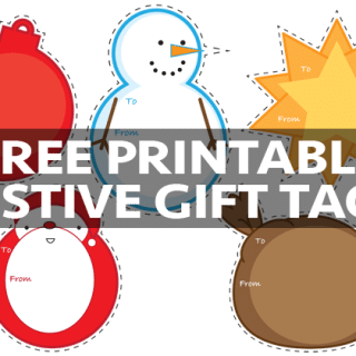 Free printable festive gift tags