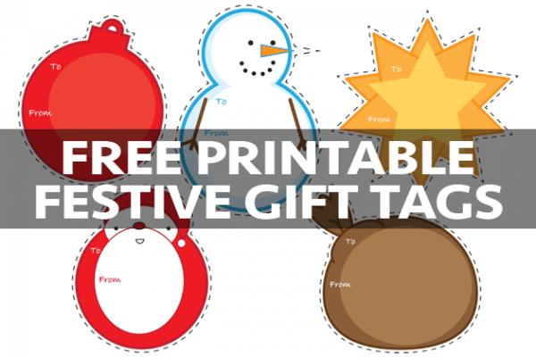 Free printable festive gift tags