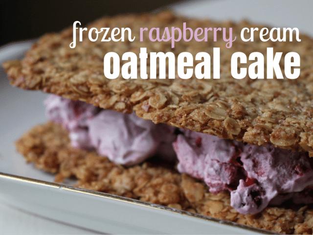 Frozen oatmeal cake