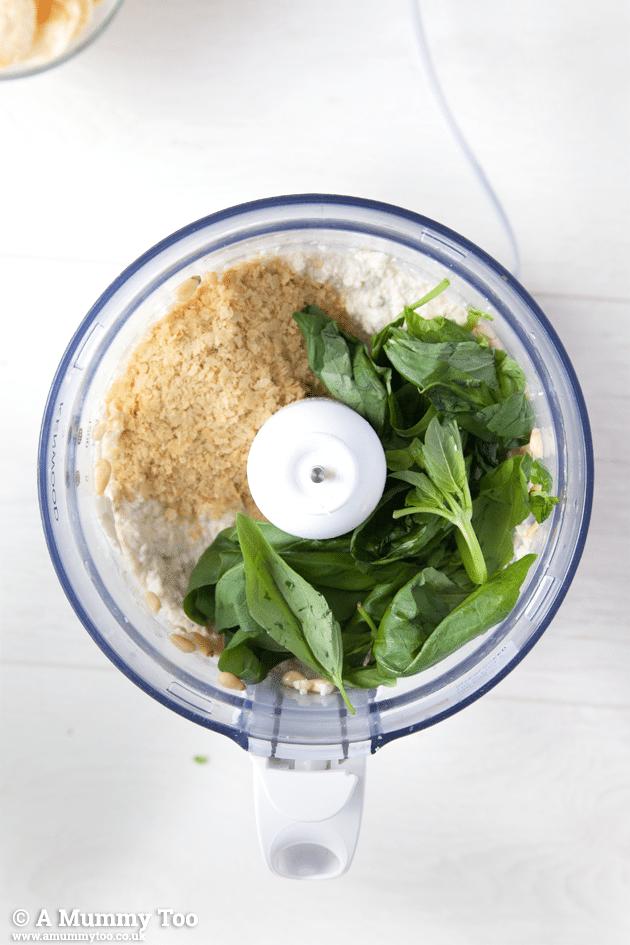 How to make a deliciously creamy vegan pesto dip