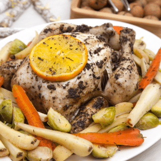 A healthier Christmas dinner: foil-baked sage and orange chicken with thyme steamed vegetables
