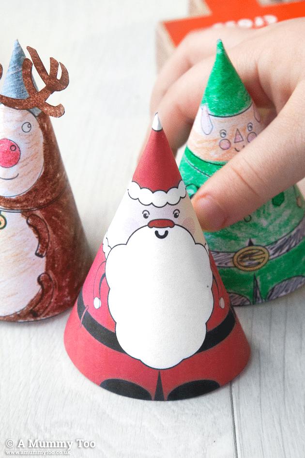 Free printable 3D Christmas characters!
