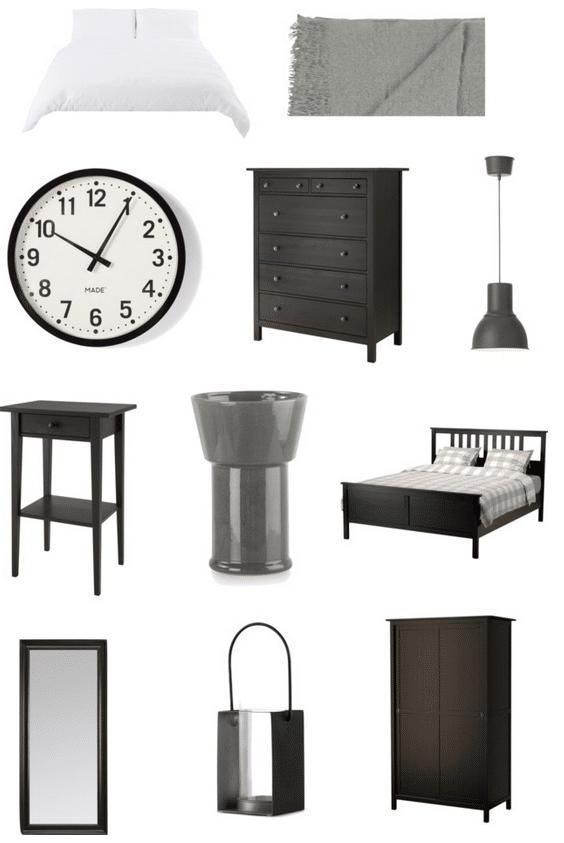 Monochrome bedroom design ideas