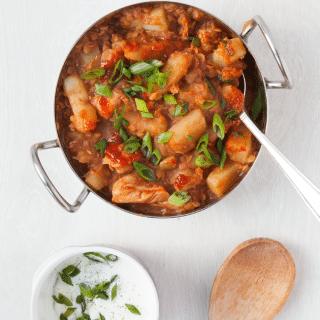One pot harissa chicken curry